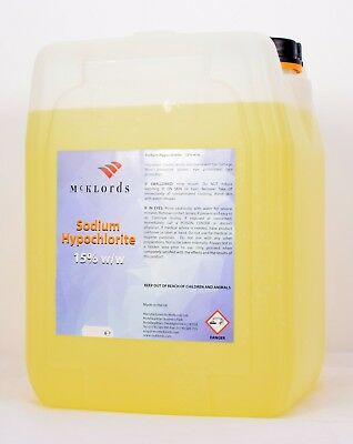 Strong Sodium Hypochlorite 14–15% w/w - Swimming pool - 4 x 5 Litres