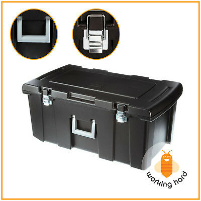 FOOTLOCKER STORAGE BOX Rolling Wheels Plastic Bin Container Organizer Handle