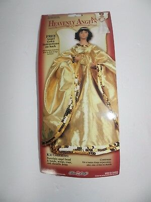 Fibre Craft Heavenly Angels Kit Porcelain Angel Head and Hands Wings Cone Arms