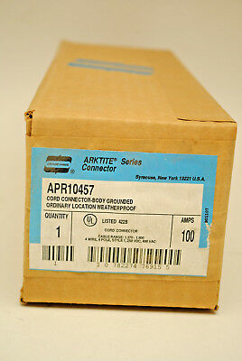 Crouse Hinds Arktite APR10457 Pin & Sleeve Cord Connector 100-Amp 600-VAC