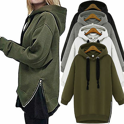 Women Oversize Hoodie Baggy Jumper Hooded Fleece Sweater Sweatshirt Pullover Top