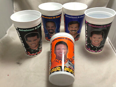 Set of 5 Different 1999 NASCAR Coca-Cola Coke Racing Family 44oz Plastic Cups
