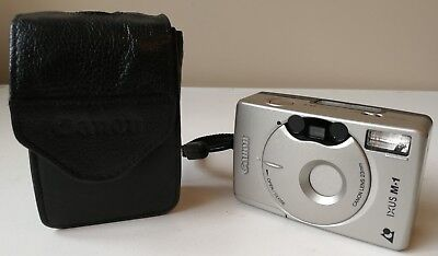 Canon IXUS M1 APS Compact Film 35mm auto Camera 32mm lens Silver leather case