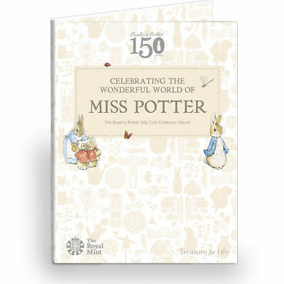 2016 Beatrix Potter 50p Fifty pence Coin hunt collector album NEW