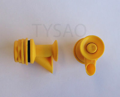 Lot of  2 - Hot & Cold Water Cooler Dispencer Faucet / Valve / Spigot Yellow