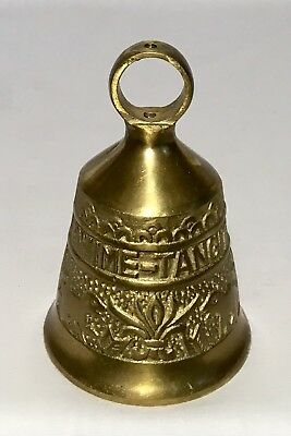 "Brass Bell, Latin Words: Vocem Meam A Ovime Tangit, 4 1/4"" Tall, Base 2 3/4"" Dia"