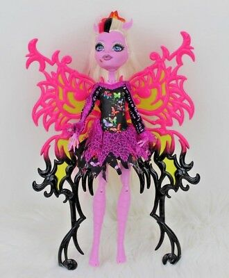 Monster High Doll Bonita Femur Freaky Fusion Moth & Skeleton Wild Wings