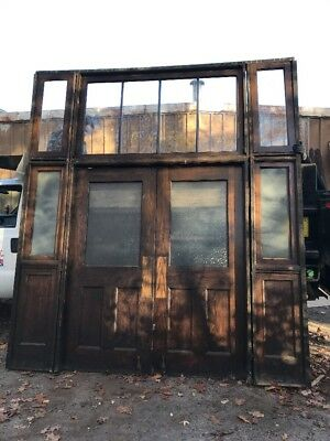 Ho Antique Double Door Ok Entry Set With Transom 9 foot 7 x 10' 8H X 5.6