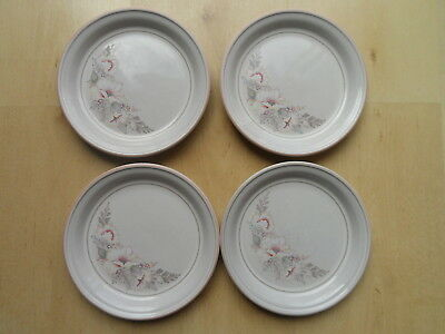DENBY TIVOLI PATTERN 18.5cm WIDE TEA/SIDE PLATES X4
