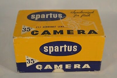 "Collectible Vintage Spartus ""35 F"" Model 400 35mm Film Camera W/Box"