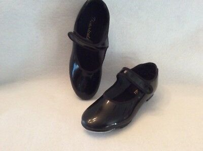 Girl's Tap Shoes by Theatricals Size 12 w/ Velcro Adjustable Straps