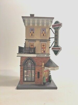 Department 56 Christmas in the City Foster Pharmacy  Retired 56.58916 New in BOX