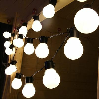 New 10m 38leds Led String Light 5cm Super Big Ball Ac110v 220v Outdoor  White/wa