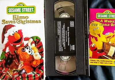 sesame street elmo saves christmas vhs 1996 - Sesame Street Elmo Saves Christmas
