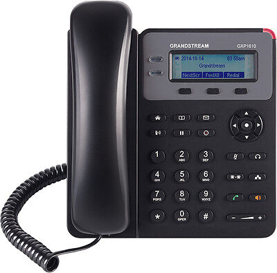 GRANDSTREAM GXP 1610 VoIP SIP Single line IP Phone + $5 AUD Voucher