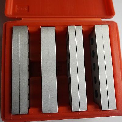 4 pair Hardened Steel Parallels for drilling and milling
