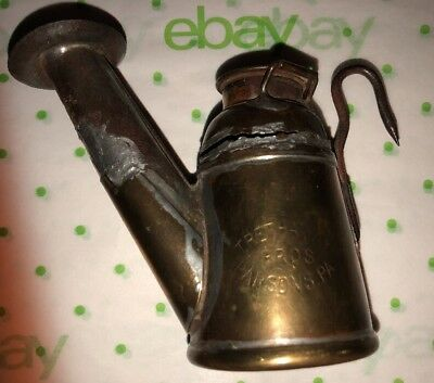Miners Cap Lamp Trethaway Bros- Parsons PA Copper & Steel- Damage