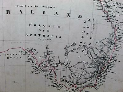 Australia Australland New South Wales early Colonies 1844 Flemming scarce map