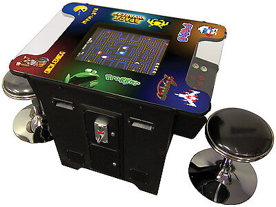 Standard Commercial Upgraded 60-Games Video Arcade Cocktail Table + Trackballs