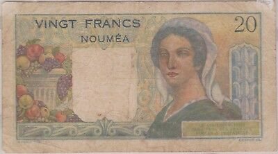 (N9-50) 1951 NOUMEA 20 FRANKS bank note