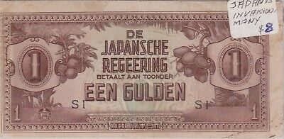 (N9-26) 1940s Japan EEN GULDEN one bank note