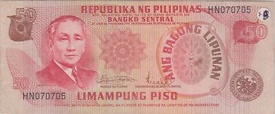 (N9-64) 1970 Philippines 50 peso bank note (G)
