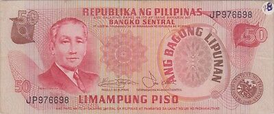 (N9-62) 1970 Philippines 50 peso bank note (E)