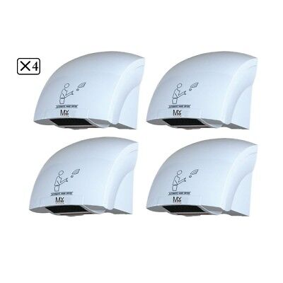4 x Wall Mounted Automatic Hand Dryer Commercial Grade Bathroom  Powerful 1800 W
