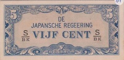 (N9-20) 1940s Japan VIJF CENT 5c bank note (A)