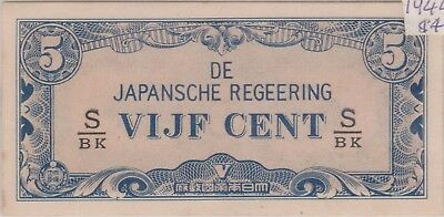 (N9-21) 1940s Japan VIJF CENT 5c bank note (B)