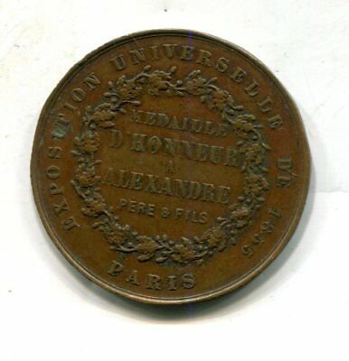 1855 Paris France - Universal Exposition Medal of Honor