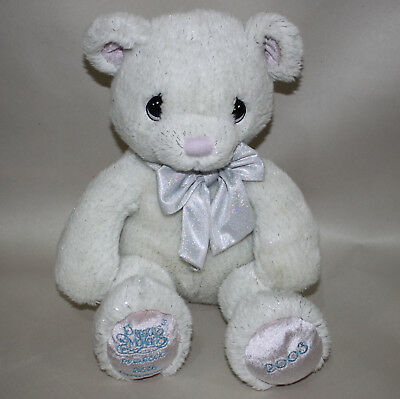 Precious Moments 25th Anniversary 2003 Plush Bear Soft Fuzzy White Stuffed Toy