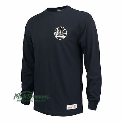 NEW Golden State Warriors Mono Logo Long Sleeve T-Shirt by Mitchell & Ness