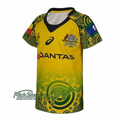NEW Wallabies 2017 Official Infant's Indigenous Rugby Jersey by Asics