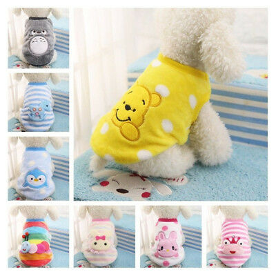 Cartoon Small Dog Clothes Pet Puppy Cute Vest Dog Cat Apparel T Shirt XXS-XXL