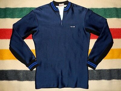 Vintage Pearl Izumi Cycle Wear Winter Cycling Jersey Wool Sweater Back Size  S 5e0342932