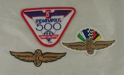 Lot Of 3 Indianapolis 500 Motor Speedway Decals & Patch Vintage 1991 Racing