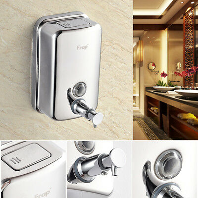 Stainless Soap Shower Gel Shampoo Bathroom Pump Dispenser Wall Mounted 500Ml