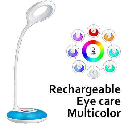 Rechageable Foldable LED Desk Bedside Reading Lamp Table Study Light Touch CTL