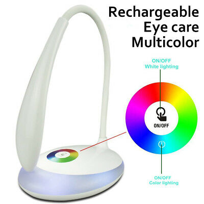 Rechageable Foldable LED Desk Bedside Reading Lamp Table Study Light Touch CTL A