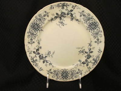 """Vintage Alfred Meakin MELTON Blue Floral Transferware 9"""" Luncheon Plate, England"""