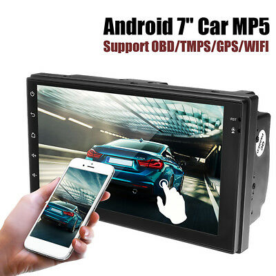 """7"""" Android 6.0 Car MP5 Player 2Din Bluetooth Stereo TMPS WIFI OBD GPS Navigation"""
