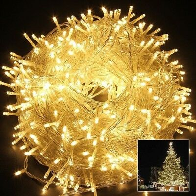100M 500 LED Warm White String Fairy Lights Christmas Tree Xmas Party Wedding