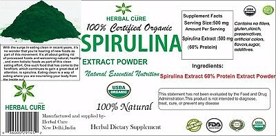 Organic Spirulina Extract 60% Protein Extract Powder to Boost Immune System