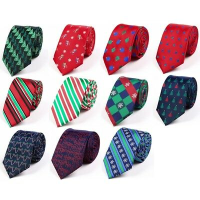 Men's Christmas Tie Classic Wedding Fashion Party Necktie Xmas Festival Gifts