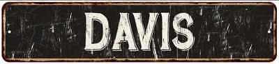 DAVIS Street Sign Rustic Chic Sign Home man cave Decor Gift Black 41803263