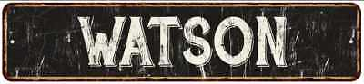 WATSON Street Sign Rustic Chic Sign Home man cave Decor Gift Black 41803790