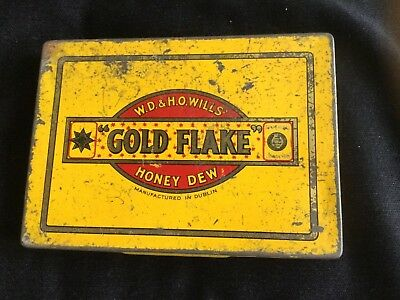 """ Gold Flake "" Honey Dew Tobacco Tin"