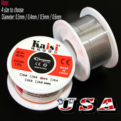 50G 0.2mm-0.6mm 60/40 Rosin Core Flux 1.2% Tin Lead Roll Soldering Solder Wire