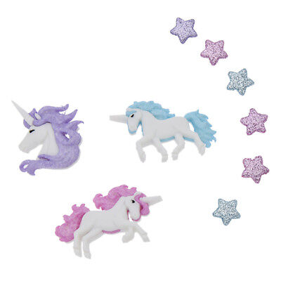9pcs Magical Unicorn Star Buttons set Cute Fairy Sew Clothing Accessories